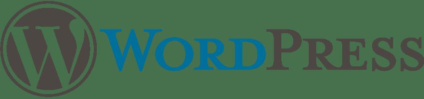 Original WordPress Logo mit Schrift