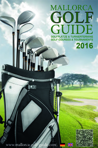 Druckversion des MALLORCA GOLF GUIDE 2016