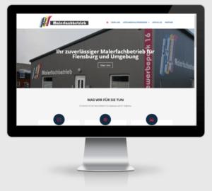 Webdesign Referenz: Malerfachbetrieb Jörg Jensen in Handewitt bei Flensburg